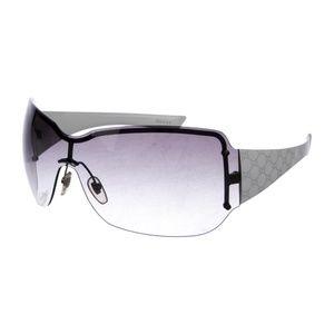 Gucci White Acetate Canvas Rimless Sunglasses!